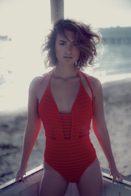 Rot am Strand
